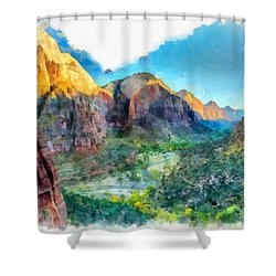 Valley Of Colours. Shower Curtain
