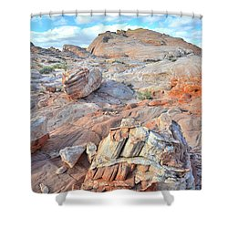 Valley Of Fire Boulders Shower Curtain