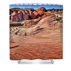 Valley Of Fire State Park Nevada Shower Curtain by James Hammond