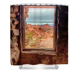 Valley Of Fire Window View Shower Curtain