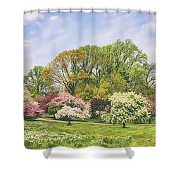 Shower Curtain featuring the photograph Valley Of The Daffodils by Jessica Jenney