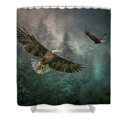 Valley Of The Eagles. Shower Curtain by Brian Tarr