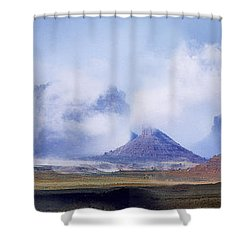 Valley Of The Gods Shower Curtain by Leland D Howard