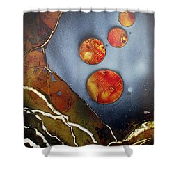 Valley Of The Moons Shower Curtain by Arlene  Wright-Correll