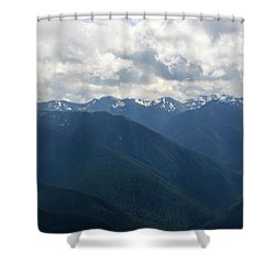 Shower Curtain featuring the photograph Valley Of The Olympics by Tikvah's Hope