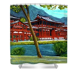 Valley Of The Temples Buddhist Temple #73 Shower Curtain by Donald k Hall