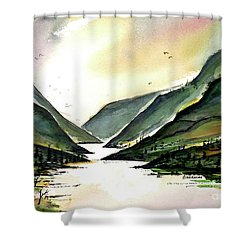 Valley Of Water Shower Curtain by Terry Banderas