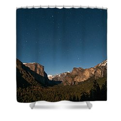 Valley View By Moon Light Shower Curtain