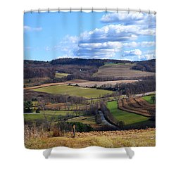 Valley View Dutchess County New York Shower Curtain by Diane Lent