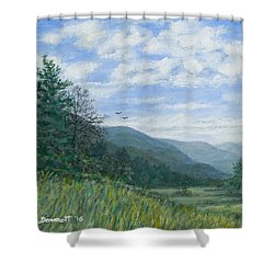 Valley View Shower Curtain by Kathleen McDermott