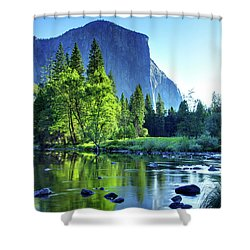 Valley View Morning Shower Curtain by Rick Berk