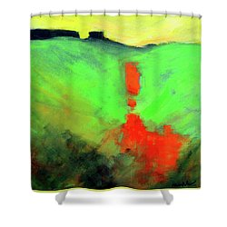 Valley View Shower Curtain by Nancy Merkle