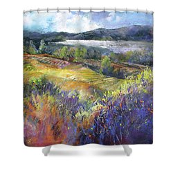 Valley View Shower Curtain by Rae Andrews