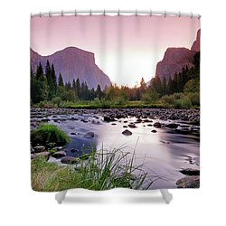 Valley View Sunrise Shower Curtain