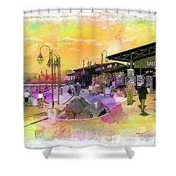 Valley Wells California Shower Curtain