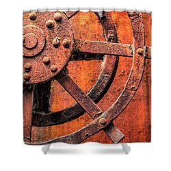 Valve Control Sloss Shower Curtain by Phillip Burrow