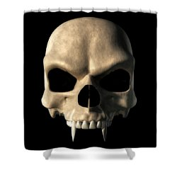 Vampire Skull Shower Curtain by Daniel Eskridge