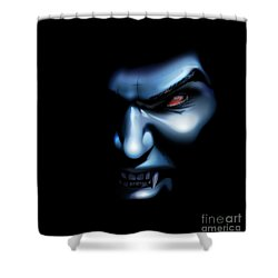 Shower Curtain featuring the drawing Vampires Rage by Brian Gibbs