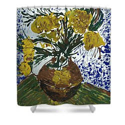 Shower Curtain featuring the painting Van Gogh by J R Seymour