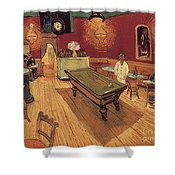 Van Gogh Night Cafe 1888 Shower Curtain by Granger