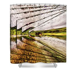 Van Gogh Perspective Shower Curtain by Mario Carini