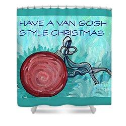 Van Gogh Style Xmas  Shower Curtain