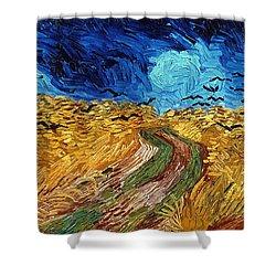 Van Gogh: Wheatfield, 1890 Shower Curtain by Granger
