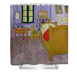 Van Goghs Bedroom At Arles Shower Curtain by Vincent Van Gogh