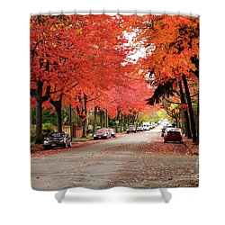 Vancouver Autumn In The City Shower Curtain