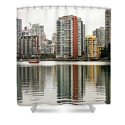 Vancouver Bc Sky Line Shower Curtain by Menachem Ganon