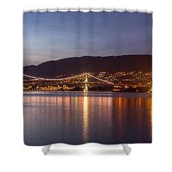 The Lights Of Lions Gate Bridge Shower Curtain