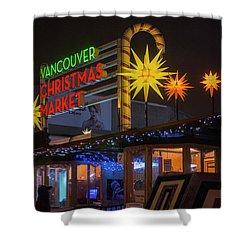Vancouver Christmas Market  Shower Curtain