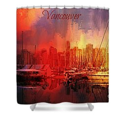 Vancouver Shower Curtain by Eva Lechner