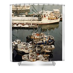 Vancouver Harbor Fishin Fleet Shower Curtain by Jack Pumphrey