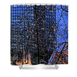 Vancouver - Magic Of Light And Water No 1 Shower Curtain by Ben and Raisa Gertsberg
