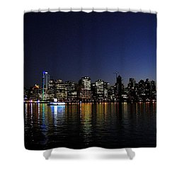 Vancouver Night Lights Shower Curtain by Will Borden