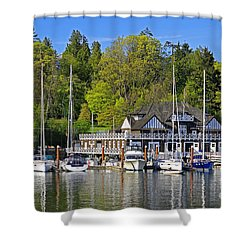 Vancouver Rowing Club In Stanley Park Shower Curtain