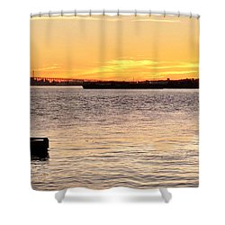 Vancouver Sunset Shower Curtain