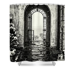 Vanderbilt Doorway In Centerport Shower Curtain