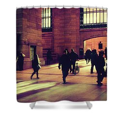 Shower Curtain featuring the photograph Grand Central Rush by Jessica Jenney