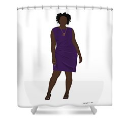 Shower Curtain featuring the digital art Vanessa by Nancy Levan
