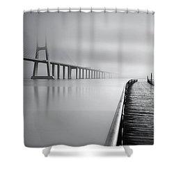 Vanishing Shower Curtain by Jorge Maia