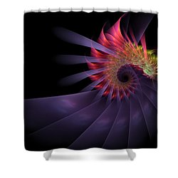 Shower Curtain featuring the digital art Vanquishing Silence by NirvanaBlues