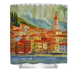 Varenna  Italy Shower Curtain by Ginger Concepcion