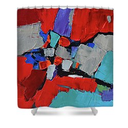 Shower Curtain featuring the painting Variation by Elise Palmigiani