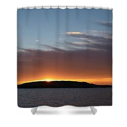 Shower Curtain featuring the photograph Variations Of Sunsets At Gulf Of Bothnia 1 by Jouko Lehto