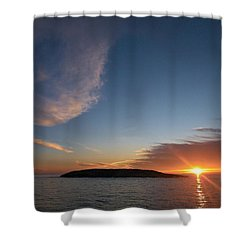 Shower Curtain featuring the photograph Variations Of Sunsets At Gulf Of Bothnia 2 by Jouko Lehto