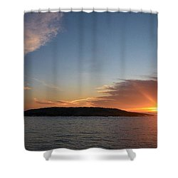 Shower Curtain featuring the photograph Variations Of Sunsets At Gulf Of Bothnia 3 by Jouko Lehto