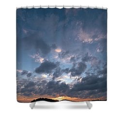 Shower Curtain featuring the photograph Variations Of Sunsets At Gulf Of Bothnia 5 by Jouko Lehto