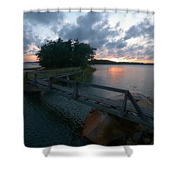 Shower Curtain featuring the photograph Variations Of Sunsets At Gulf Of Bothnia 6 by Jouko Lehto